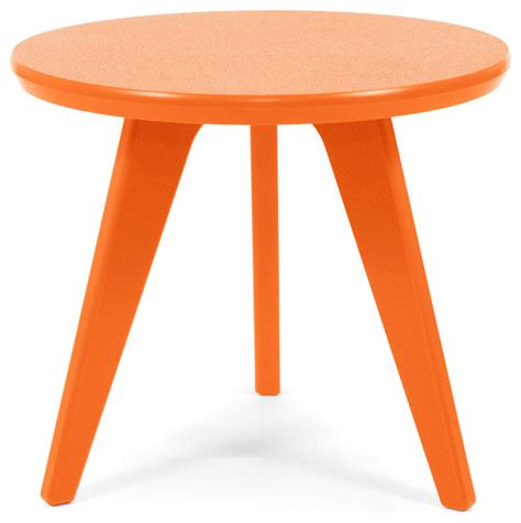 Orange Side Table Satellite End 18 Table Sunset Orange Contemporary Outdoor Side Tables By Loll Designs