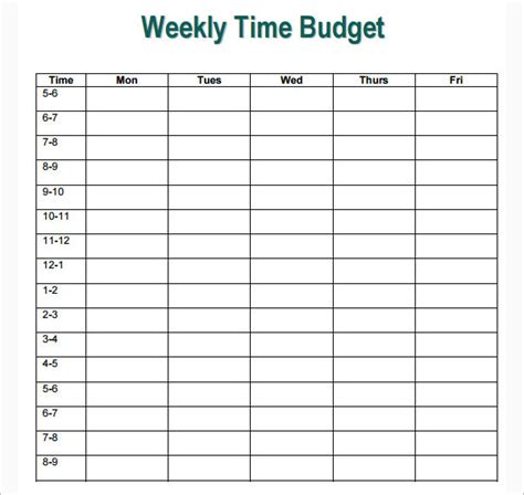 17 Simple Weekly Budget Templates Free Excel Word Pdf Formats Simple Weekly Budget Template