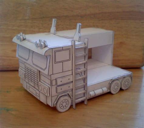 optimus prime bed optimus prime bunk bed paper model by ken artwanted com