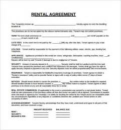rental lease agreements templates free rental lease agreement 8 free sles exles format