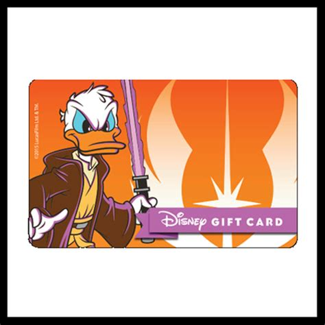 Star Wars Gift Cards - your wdw store disney collectible gift card star wars 2015 donald as mace windu
