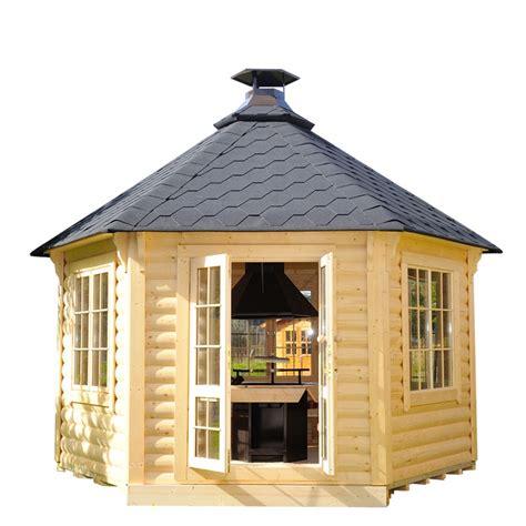 casetta da giardino casetta da giardino in legno minerva 216 3 77 m con barbecue