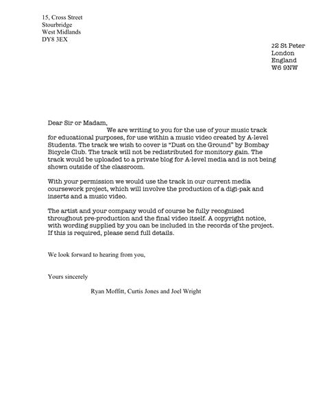 Permission Letter In Best Photos Of Exle Of A Permission Letter Sle