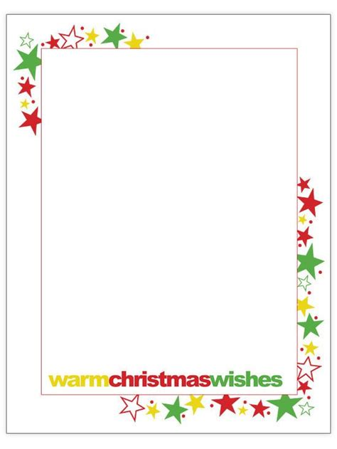 42 Best Christmas Letter Printables Images On Pinterest Leaves Page Borders And Picture Frame Letter Border Templates Free