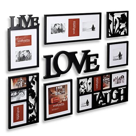 bed bath and beyond tallahassee wallverbs 8 piece frame and plaque set bed bath beyond