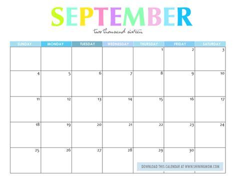 blank calendar september 2016 september 2016 calendar printable