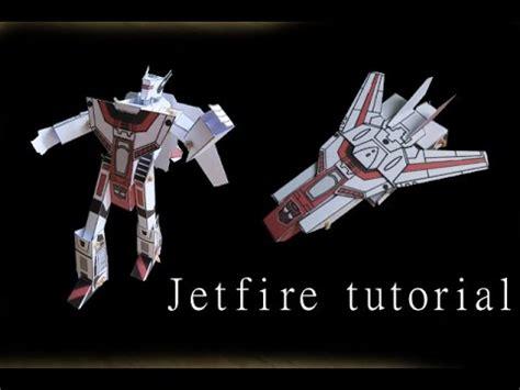 origami transformer tutorial jetfire papercraft moving paper tutorial