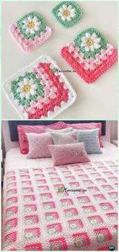 crochet mitered granny square blanket free patterns square blanket granny squares and free