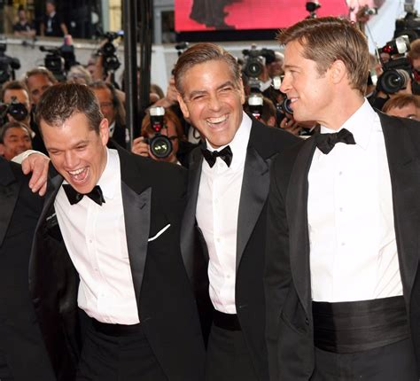 george clooney and matt damon matt damon george clooney and brad pitt s pranks