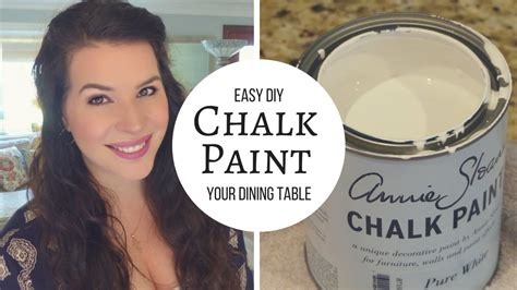 diy chalk paint uk diy chalk paint and distress a table tutorial doovi