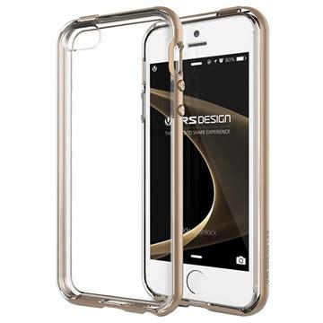 Iphone 5 5s Gold White Casing Bumper Cover Bagus iphone 5 5s se vrs design bumper series shine gold