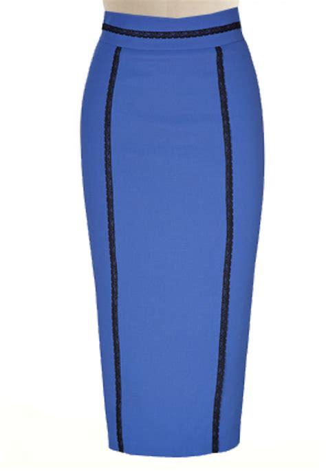 high waisted pencil skirt with lace trim custom handmade