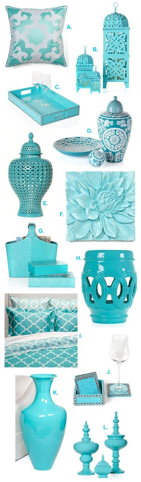 turquoise home decor accessories interior design