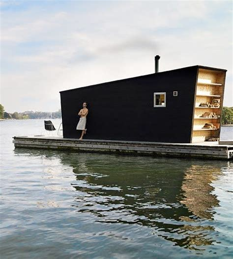 floating boat house modern tiny floating house barefootstyling com exteriors pinterest floating