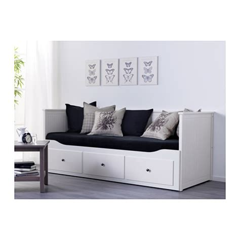hemnes day bed w 3 drawers 2 mattresses white moshult firm