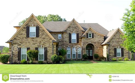 uniquely beautiful suburban middle class home stock photo
