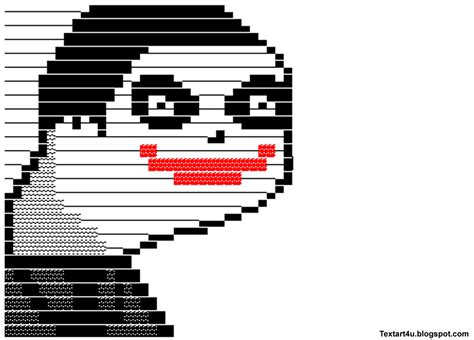 Meme Text Art - troll face facebook status ascii memes