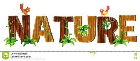font design nature wordcard design for word windmill cartoon vector