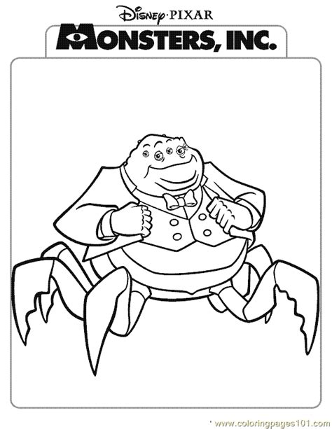 printable coloring pages monsters inc pictures of monsters inc characters coloring home