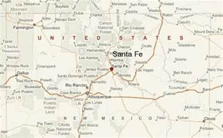 santa fe map santa fe new mexico location guide