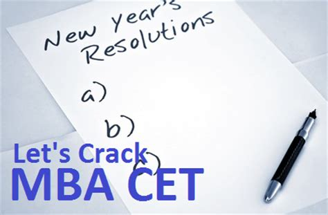 Mba Cet 2017 Date by New Year Resolution Lets Mba Cet 2017 Cetking