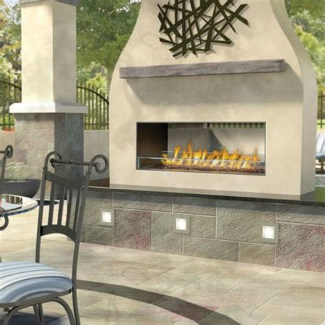 linear outdoor gas fireplace napoleon gss48st galaxy series see thru outdoor linear gas