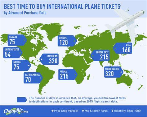 time  buy  international flight