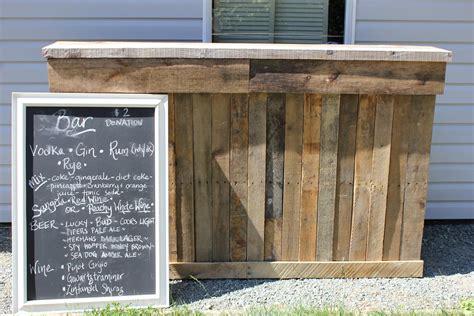 Wood Bar Burlap And Lace Reclaimed Wood Bar