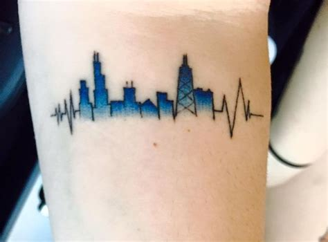 chicago skyline tattoos best 25 tattoos ideas on human