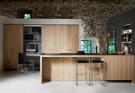 best contemporary kitchen designs beautiful kitchen with built in desk