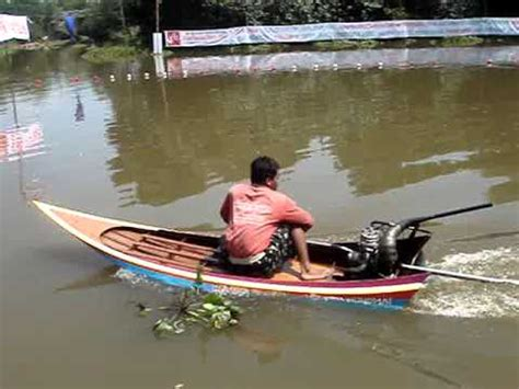 thai boat longtail 150cc boat in thailand start up and test john