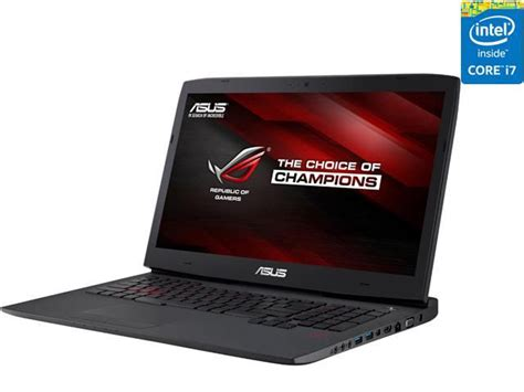 asus rog g751jt db73 g sync gaming laptop 4th generation intel i7 4720hq 2 60 ghz 16 gb