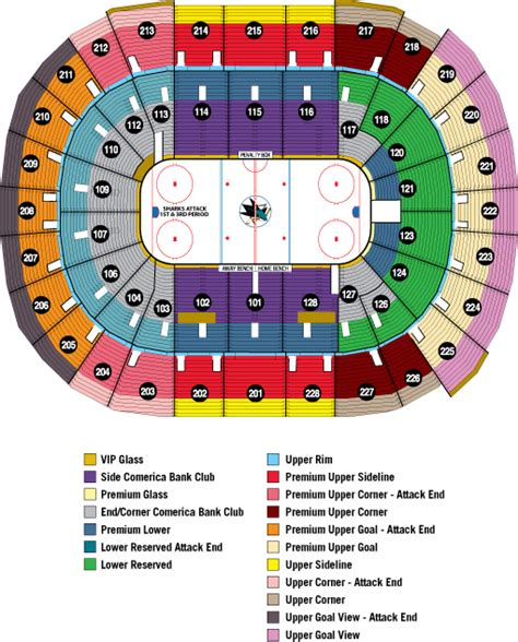 san jose sharks map san jose sharks sap center