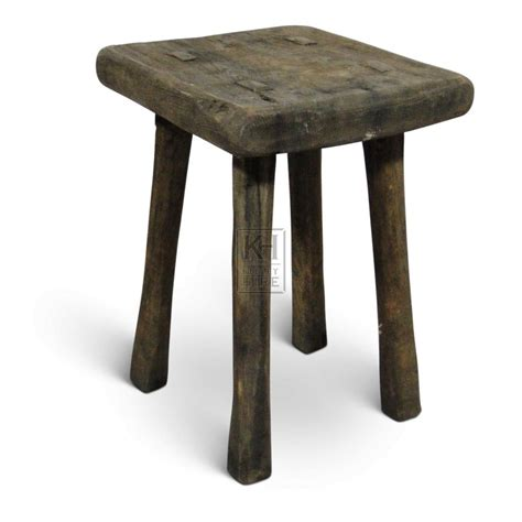 Square Stool by Prop Hire 187 Stools 187 Square Plain Wood Stool Keeley Hire