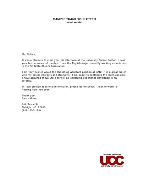 thank you letter to from administrator thank you letter email after exles resume