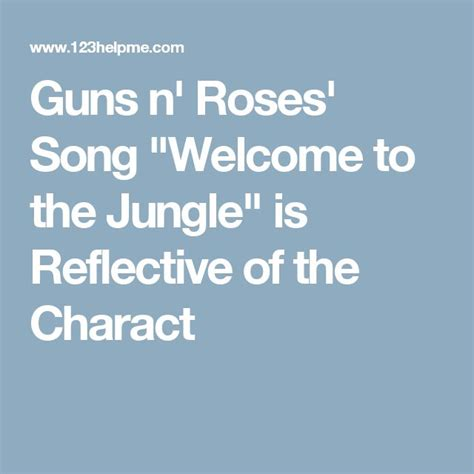 download mp3 guns n roses welcome to the jungle 25 best ideas about gnr songs on pinterest slash album