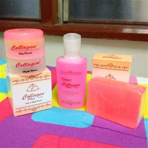 1 Set Collagen Plus Vit E promosi 3 set collagen plus vitamin e toner rm80 free