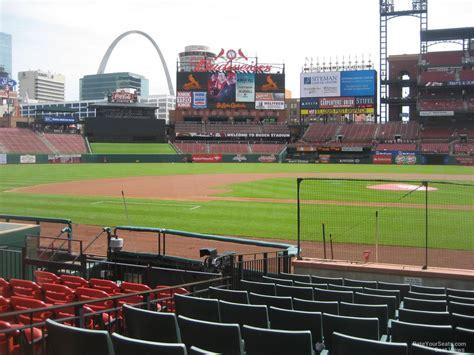busch stadium green seats busch stadium cardinals club 8 rateyourseats