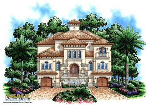 three story house plans weber design group inc three story beach house plan 3 story coastal mediterranean style