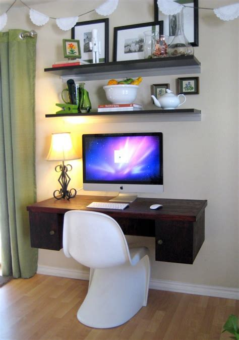 space saving standing desk unique and excellent floating computer desk designs
