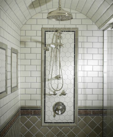 tiled ceiling in bathroom barrel ceiling shower traditional bathroom new york