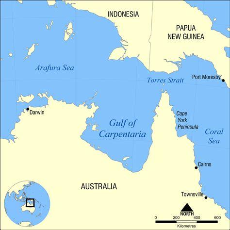 gulf map gulf of carpentaria
