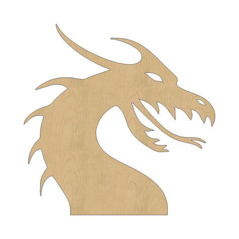 dragon head cutout shape laser cut unfinished wood shapes