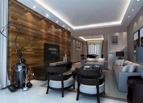 Modern Small Living Room Design With Hardwood Flooring On