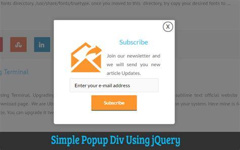 jquery popup div kvcodes a place for web tutorials