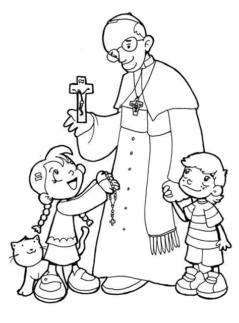 pope hat coloring page pope francis clipart 45