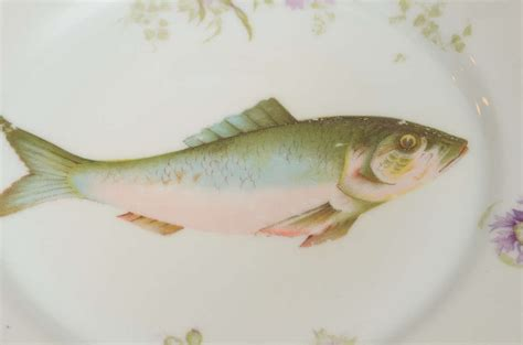nouveau style ls nouveau ls s carlsbad austria porcelain fish set at