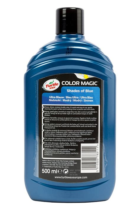 ultra blue color turtle wax colour magic ultra blue car 500ml ebay