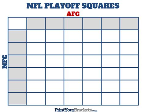 nfl pool template printable nfl playoff squares football office pool