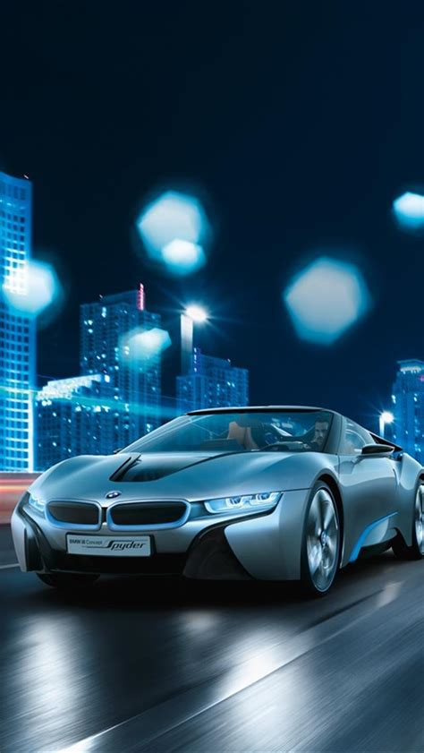 bmw i8 wallpaper hd at night bmw i8 spyder iphone 5 wallpapers downloads